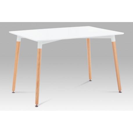 Jídelní stůl 120x80 cm, lak bílá / natural