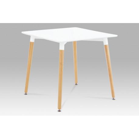 Jídelní stůl 80x80 cm, bílá / natural
