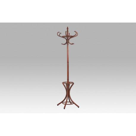 Věšák dřevěný - barva tm. hnědá,  v. 186 cm
