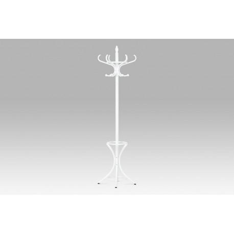Věšák dřevěný - barva bílá, v. 186 cm