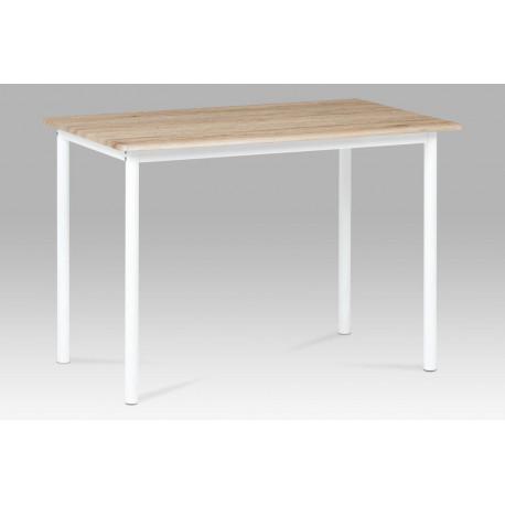 Jídelní stůl 110x70 cm, dub san remo / bílý lak
