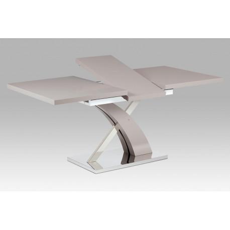 Rozkládací jídelní stůl 140+40x90 cm, lanýžový mat / nerez