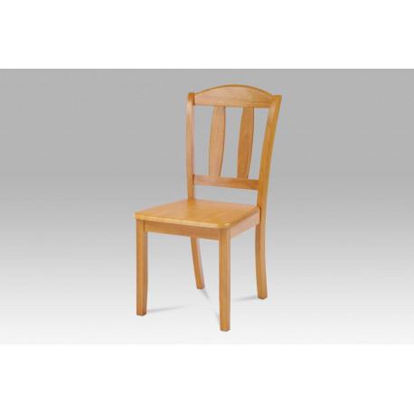 Jídelní židle celodřevěná, barva olše