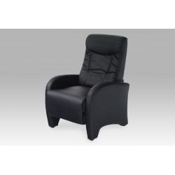 Relax. křeslo, koženka černá