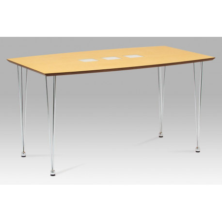 Jídelní stůl 135x80 cm, chrom / dýha natural (WD-5837-2)