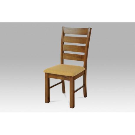 Jídelní židle barva ořech / potah pískový