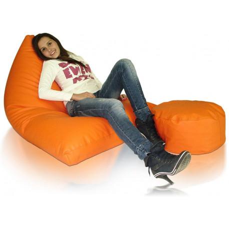 Lehací a sedací vak Cosmo XXXXL sestava s podnožkou
